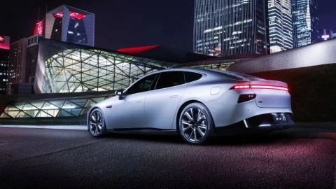 Xpeng P7 smart coupe. (Photo: Business Wire)