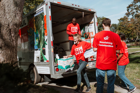 BJ's Wholesale Club partnered with Humble Design in Detroit, Mich. to support two local families transitioning out of homelessness with two days of service and by donating products to help furnish the families' new homes. (Photo: Business Wire)