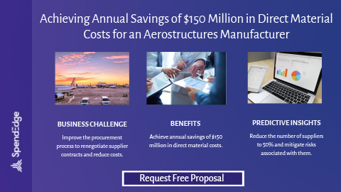 Achieving Annual Savings of $150 Million in Direct Material Costs for an Aerostructures Manufacturer.