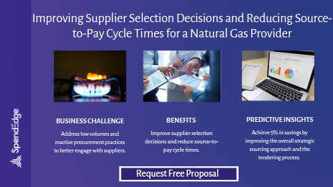 Improving Supplier Selection Decisions and Reducing Source-to-Pay Cycle Times for a Natural Gas Provider.