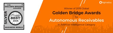 HighRadius Autonomous Receivables Solution Earns Golden Bridge Award in AI Category (Graphic: Business Wire)