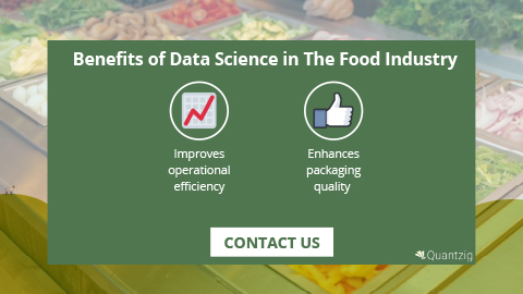 What are the benefits of data science in the food industry?