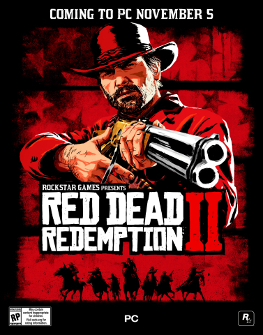 Rockstar Games® is proud to announce that Red Dead Redemption 2 is coming to PC on November 5th, 2019, with special bonuses available to players who pre-purchase through the Rockstar Games Launcher starting October 9th. (Graphic: Business Wire)