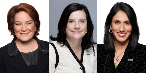 U.S. Bank leaders Kate Quinn, Leslie Godridge and Gunjan Kedia are among this year's Most Powerful Women in Banking according to American Banker. (Photo: U.S. Bank)