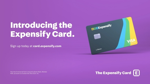 With the Expensify Card, employees no longer need receipts for business purchases, and admins save time processing expenses with continuous reconciliation and realtime compliance notifications. (Graphic: Business Wire)