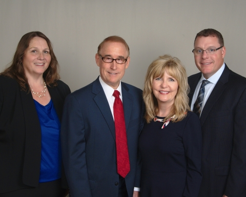 The Burton Lucius Financial Consulting Group, Ameriprise Financial. From left to right: Sandy Long, Mark Burton, Norma Burton, Todd Lucius. (Photo: Ameriprise Financial)