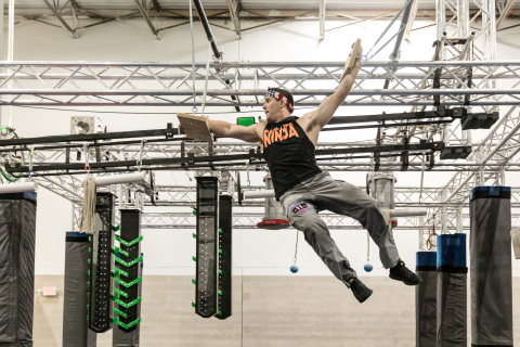 UNX NOW has attracted top talent including American Ninja Warrior 2019 Champion Drew Drechsel (pictured); Daniel Gil; Jesse Labreck; and Jessie Graff, all of whom have signed on to compete in the inaugural season and be featured in the network's entertainment programs. Credit: Katy Zimmerman Photography