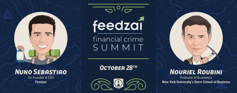 Financial Crime Summit @ Money20/20 Vegas - Nouriel Roubini and Nuno Sebastiao on Main Stage (Graphic: Business Wire)