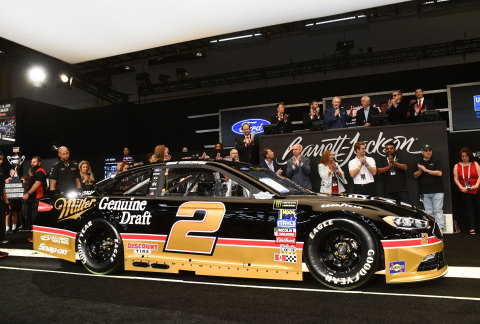 2018 Ford Fusion NASCAR Cup Series Race Car (Lot #3001) raised $250,000 to benefit United Way for Southeastern Michigan during the 2019 Barrett-Jackson Las Vegas Auction. (Photo: Business Wire)