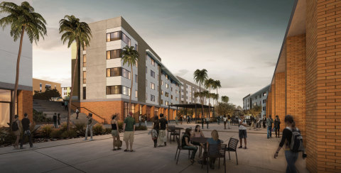 North District Project: The University of California, Riverside's new living-learning, mixed-use student community. (Photo: Business Wire)