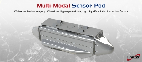 The Multi-Modal Sensor Pod combines wide-area, hyperspectral, and high-resolution sensors into a single podded system, with real-time onboard processing and storage. (Graphic: Business Wire)