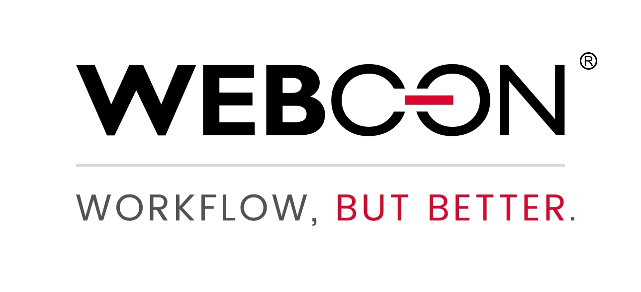 "WEBCON logo and ""Workflow, But Better"" tagline"