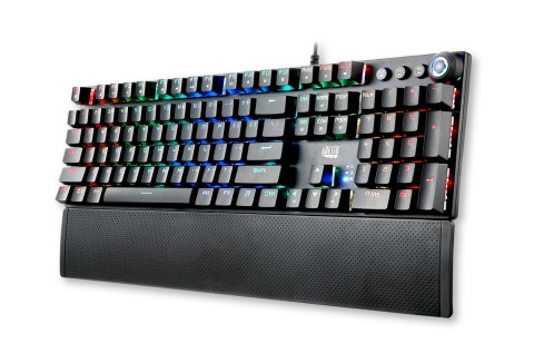 Adesso's New RGB Programmable Mechanical Gaming Keyboard with Detachable Magnetic Palm Rest (Photo: Business Wire)