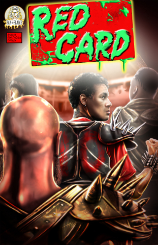 The cover of the first issue of Red Card, the newest sci-fi title from Neymar Jr. Comics. (Photo: Business Wire)
