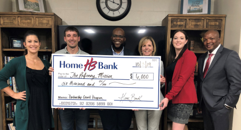 Home Bank and FHLB Dallas awarded $6K to The Refinery Mission, which helps underserved men who have been previously incarcerated. (Photo: Business Wire)