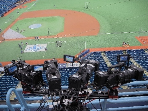 Photos at the PoC event: Cameras in the ballpark (Photo: Business Wire)