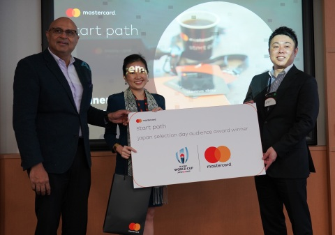The left end: Mr. Nandan Maru, President of Japan, Mastercard (Head office: Purchase, NY). The center: Ms. Li Li Lin, Start Path Director (Asia Pacific), Mastercard. The right end: Jun Takagi, Chairman and CEO of Overseas Business, NIPPON Platform. (Photo: Business Wire)