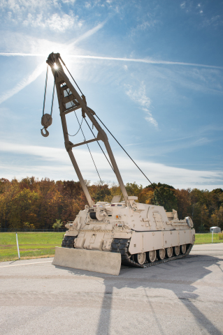 The upgrade to the M88A2 Heavy Equipment Recovery Combat Utility Lift System (HERCULES) configuration adds increased power, maneuverability and survivability. (Photo: BAE Systems)