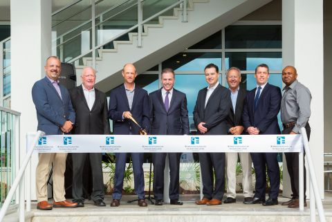 Leaders from Hilton Grand Vacations, Strand Capital Group and the city of Myrtle Beach celebrate the grand opening of Ocean Enclave by Hilton Grand Vacations Club. (Photo: Business Wire)