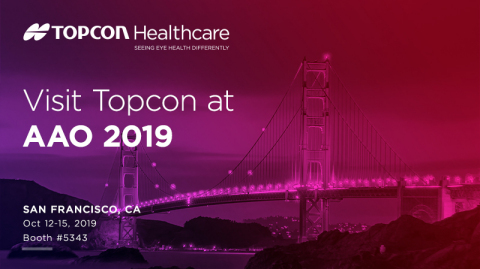 Visit Topcon Healthcare during AAO 2019 in San Francisco (Graphic: Business Wire)