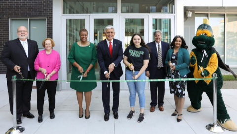 A celebratory ribbon cutting was held Oct. 9 to mark the completion of Wayne State's Anthony Wayne Drive Apartments. The apartments will also feature more than 17,000 square feet of new retail space, along with the recently opened Campus Health Center. (Photo: Business Wire)