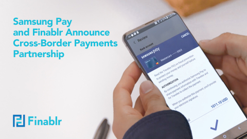 Samsung Pay and Finablr Announce Cross-Border Payments Partnership (Photo: AETOSWire)