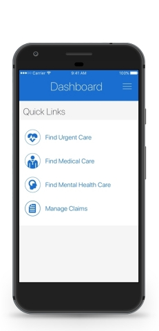 The new UnitedHealthcare app provides eligible plan participants a single source to help maintain and improve their well-being, access care and make the most of their health benefits, including on-demand telemedicine services 24/7. (Photo: Business Wire)