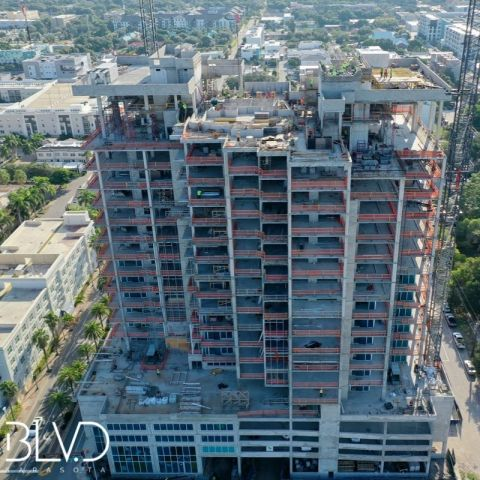 BLVD Sarasota Officially Completes Top Off in Downtown Sarasota. (Photo: Business Wire)