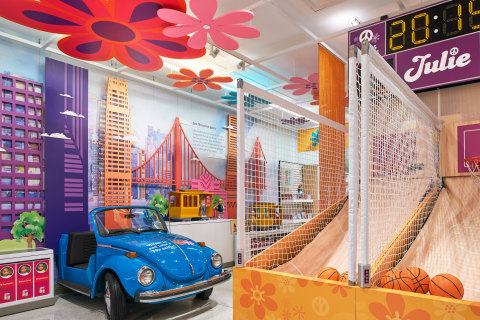 Travel back to the 1970s with fan-favorite, Julie Albright, at this brand-new interactive space at American Girl's New York store.  (Photo: Business Wire)