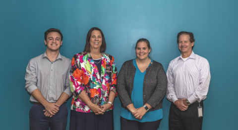 Healogics iSupply team: Reed Mueller, Financial Analyst; Pamela Robbins, Clinical Project Manager; Rebecca Mitchell, Director of Field Support; Michael White, President, Healogics At Home and iSupply. (Photo: Business Wire)