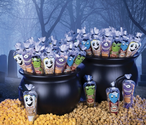 Popcornopolis® is celebrating the season of snacking with a 'pop' by offering spook-tacular, delicious treats perfect for any Halloween occasion. (Photo: Business Wire)