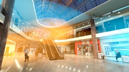 Metawave ECHO(TM) extends coverage inside of a busy shopping mall. (Photo: Business Wire)