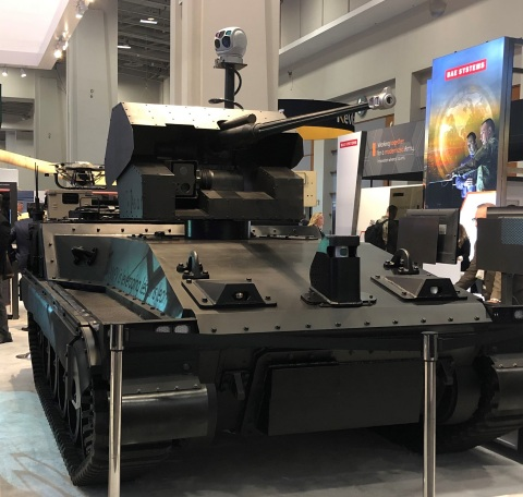 BAE Systems Unveils Robotic Technology Demonstrator Vehicle at AUSA (Photo: BAE Systems, Inc.)