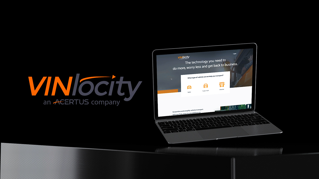 Introducing VINlocity, an ACERTUS product. Streamline and simplify vehicle transport with this free, easy-to-use vehicle transport platform to help your business move at full speed.