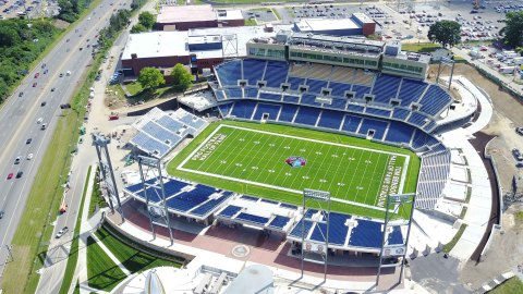 Tom Benson Hall of Fame Stadium in Canton, Ohio, named by Forbes as one of 13 game-changing NFL stadiums, joins more than 20 other major stadiums to be managed by ASM Global, the premier venue management and services company. (Photo: Business Wire)