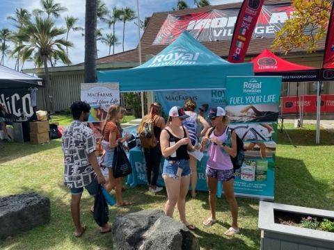 Royal Hawaiian Orchards and MacFarms in Ironman Village (Photo: Business Wire)
