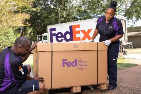 FedEx Freight announced today the expansion of FedEx Freight Direct to more than 80 percent of the contiguous U.S. population following a pilot in select markets earlier this year. The new e-commerce solution offers delivery of bulky items such as furniture, TVs and exercise equipment by FedEx Freight team members into residences and businesses. (Photo: Business Wire)