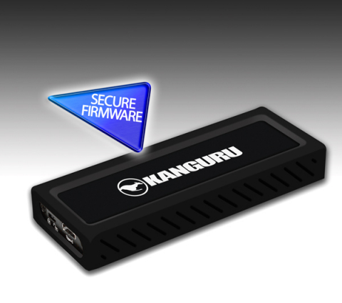 The New Kanguru UltraLock USB-C M.2 NVMe SSD is one of the world's fastest SSDs, with SuperSpeed+ USB 3.1 Gen 2 Connectivity. Along with secure firmware and a physical write protect switch, the Kanguru UltraLock USB-C M.2 NVMe SSD is an ideal solid state drive to store data. (Photo: Business Wire)