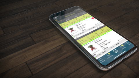 Growerstock Marketplace mobile app for IOS (Photo: Business Wire)