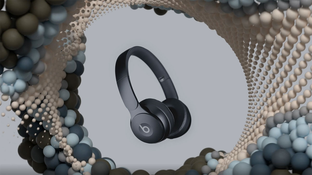 Beats introduces Solo Pro, its first on-ear, noise-cancelling headphone.