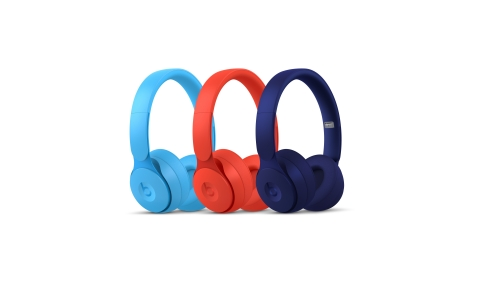"Pharrell Williams partnered with Beats to create the ""More Matte"" collection, comprised of colors Light Blue, Red and Dark Blue. (Photo: Business Wire)"