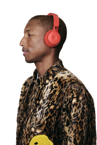 "Pharrell wears Solo Pro in Red from the ""More Matte"" collection. (Photo: Business Wire)"