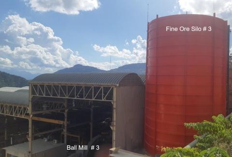 New Ball 3rd Ball Mill y Fine Ore Bin en Bolivar (Foto: Business Wire)