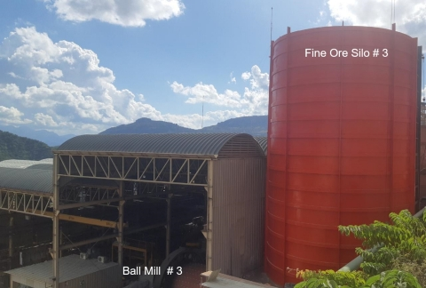 New Ball 3rd Ball Mill and Fine Ore Bin at Bolivar (Photo: Business Wire)
