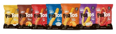 PeaTos™ new line of Crunchy Rings—available in Classic Onion and Fiery Hot flavors, new packaging and rebrand. (Photo: Business Wire)
