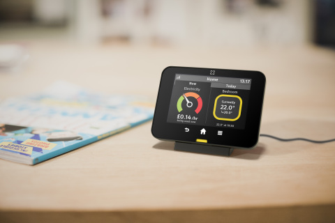 Trio Touchscreen - current temp and schedule (Photo: Business Wire)