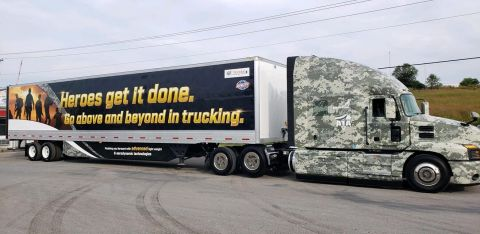 A 2020 Utility 4000D-X Composite TBR dry van trailer pictured with a MACK tractor. (Photo: Business Wire)