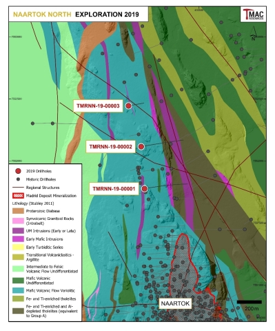 Figure 7: 2019 Naartok North exploration drilling.