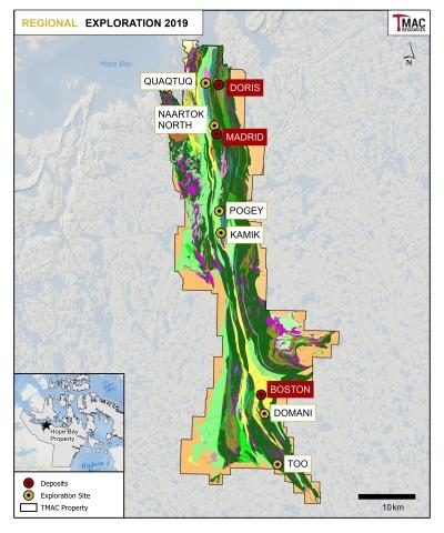 Figure 3: 2019 Regional exploration target areas.
