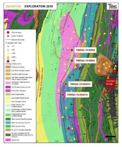 Figure 6: 2019 Quaqtuq exploration drilling.